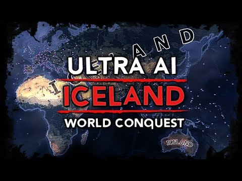 [HoI4] Ultra Iceland World Conquest w/ WW2 Timeline [AI Only Timelapse] |