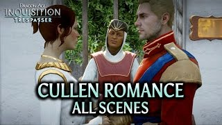 Dragon Age: Inquisition - Trespasser DLC - Cullen Romance (all scenes)
