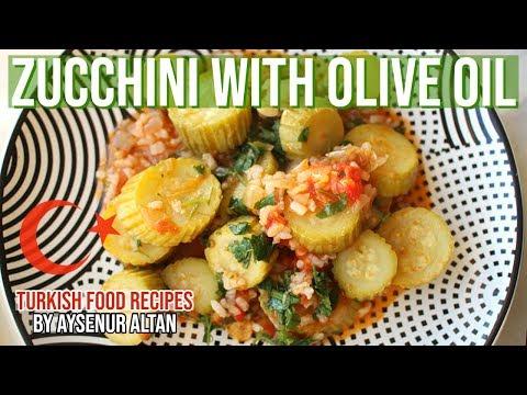 Turkish Vegan Zucchini Dish With Olive Oil & Tomatoes