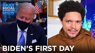 Biden's First Day of Clearing Trump's Extremely Low Bar | The Daily Social Distancing Show