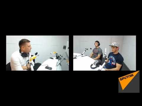 Luptătorii MMA Vlad Popovschi și Gheorghe Lupu, în Studioul Radio Sputnik Moldova