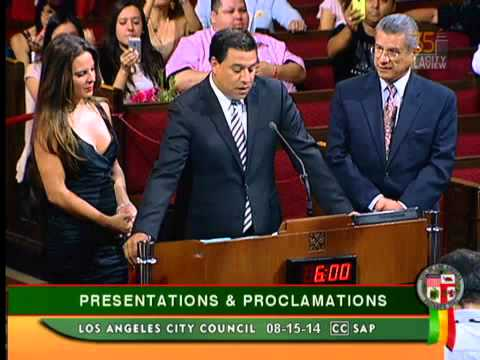 Kate Del Castillo - Los Angeles City Council Presentation