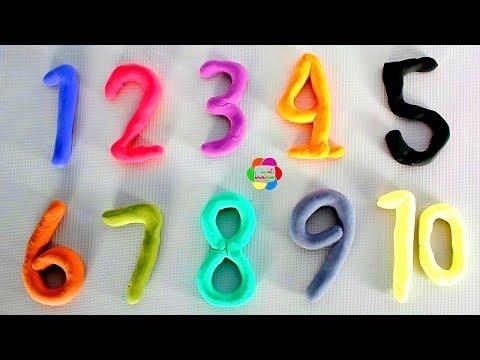لعبة تعليم ارقام الصلصال بالانجليزية والفرنسية الجديدة للاطفال العاب السلايم الاسفنجى بنات واولاد