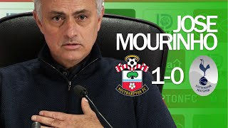 I WAS BOOKED FOR BEING RUDE TO AN IDIOT | Jose Mourinho  Southampton 1- 0 Tottenham