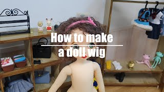 8)가발만들기making jointed doll - 8…