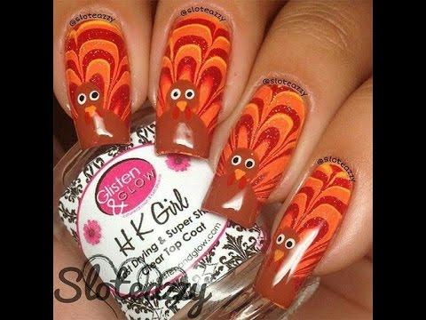 Thanksgiving Nail Art Compilation - Turkey and Pumpkin Nail Designs