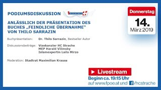 Podiumsdiskussion mit HC Strache, Thilo Sarrazin, Lailo Mirzo & Harald Vilimsky