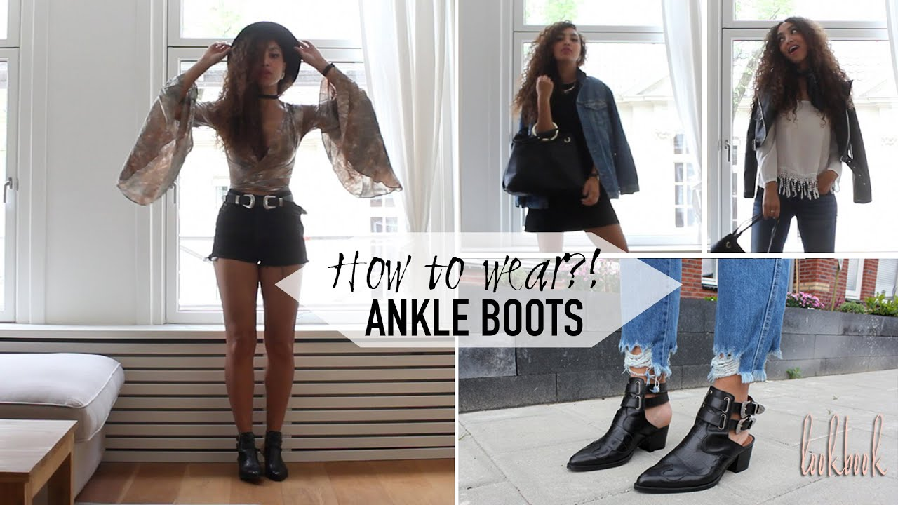How to wear: CUT OUT ANKLE BOOTS (lookbook)