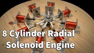 8 cylinder radial solenoid engine