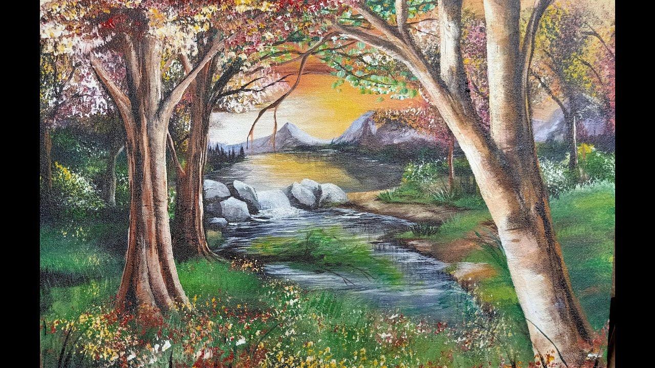 Belajar Melukis dengan imajenasi sendiri - Painting Acrylic