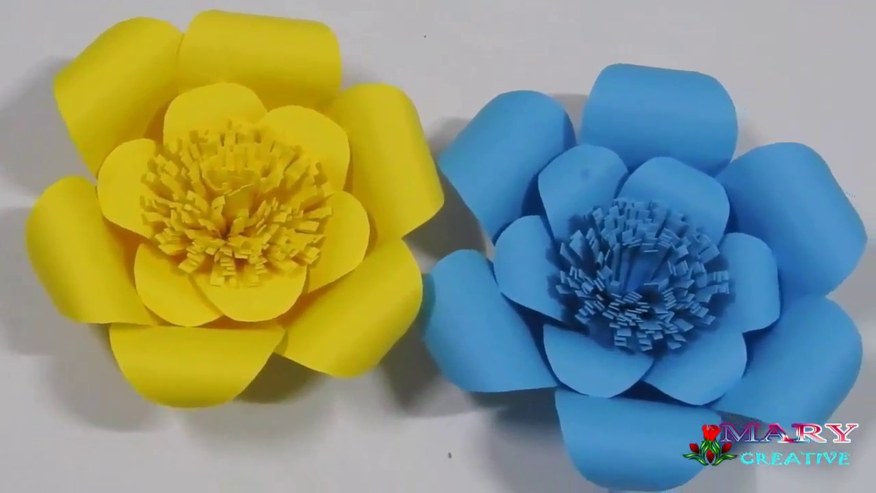 Papercraft how to make paper flower flowers easy origami papercraft how to make paper flower flowers easy origami flower making origami for kids mightylinksfo