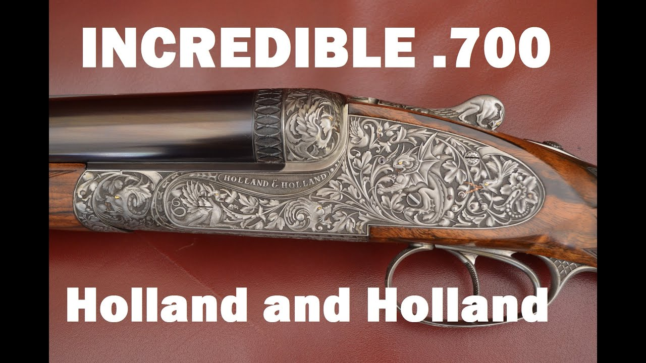 holland and holland 700 double rifle at the cla youtube. Black Bedroom Furniture Sets. Home Design Ideas