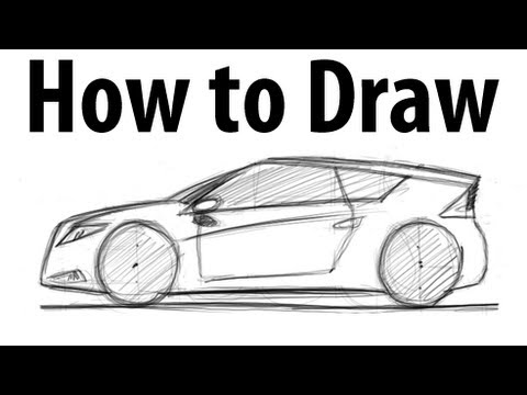 how to draw a honda cr-z - sketch it quick