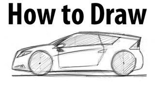 How to draw a Honda CR-Z - Sketch it quick!
