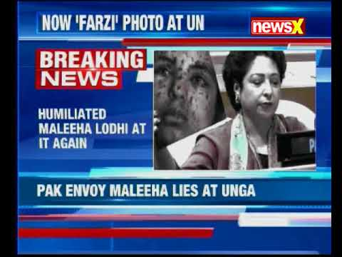 Humiliated Pakistan's Ambassador to UN reacts after showing fake image of Gaza victim as Kashmiri