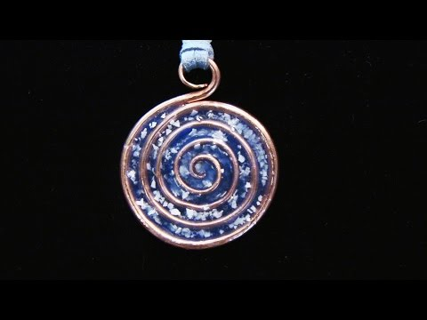 Epoxy Resin Spiral Pendant