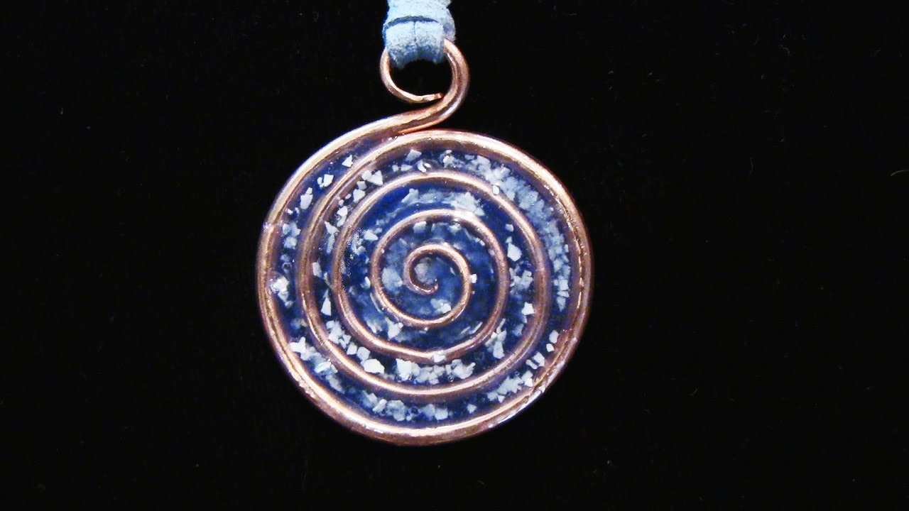 Epoxy Resin Spiral Pendant Youtube
