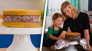Adorable Kid Makes Gigantic Ice Cream Sandwich For Mom   Kids Give the Scoop by So Yummy