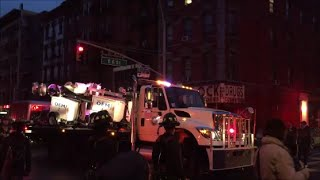 NYC OEM Office Of Emergency Management Transporting Flood Lights To The Scene Of A Explosion