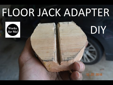 DIY Floor Jack Adapter
