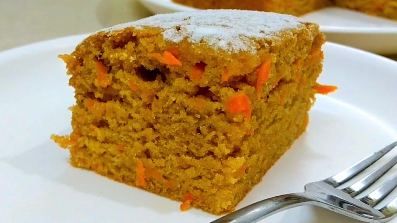 Wheat Flour Carrot Cake | Eggless Carrot Cake Recipe | आटा ...
