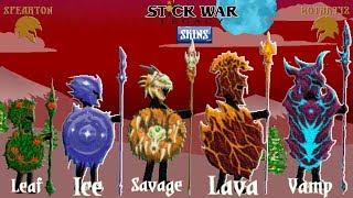 Stick War: Legacy UPDATE  All Spearton Skins Unlocked(Leaf,Ice,Savage,Lava,Vamp) (Part 30) 2018 FHD
