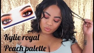 Kylie Cosmetics Royal Peach Palette ll Review and tutorial on brown skin