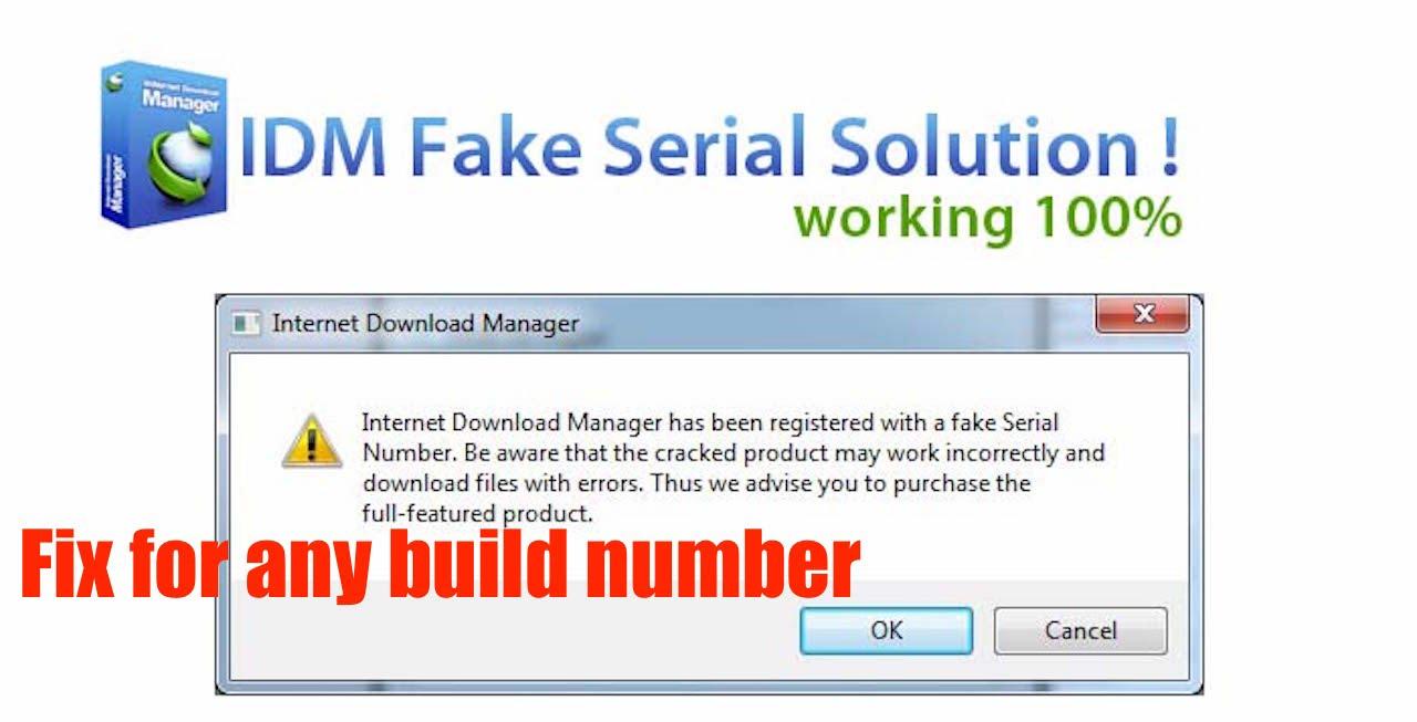 internet download manager fake serial number problem