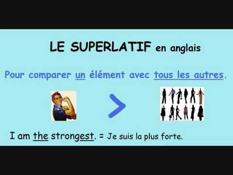 le superlatif en anglais youtube. Black Bedroom Furniture Sets. Home Design Ideas