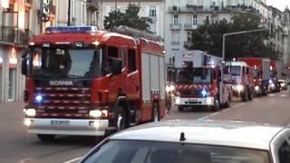 Colonne Pompiers SDIS 57 + Motard Gendarmerie Nationale