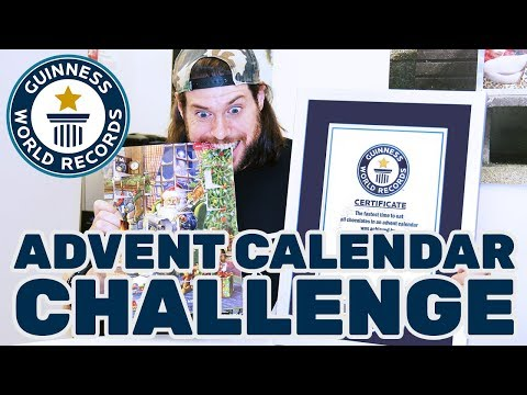 L.A. Beast advent calendar chocolate eating challenge – Guinness World Records