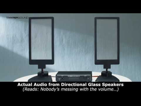 These are transparent directional glass speakers and they look amazing