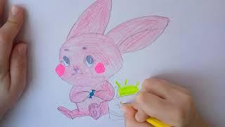 Кролик Как нарисовать кролика