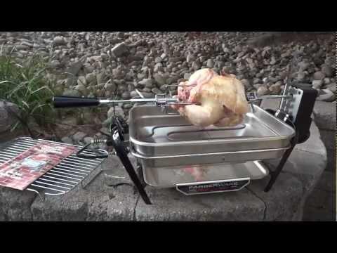 Rotisserie Chicken, Farberware Open Hearth Broiler Grill