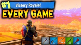 Fortnite: Win EVERY GAME in The Top 25! (Fortnite Battle Royale)