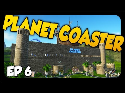 Planet Coaster ➤ INDOOR ROLLER COASTER & CASTLE! [Let's Play Planet Coaster Gameplay Ep 6]