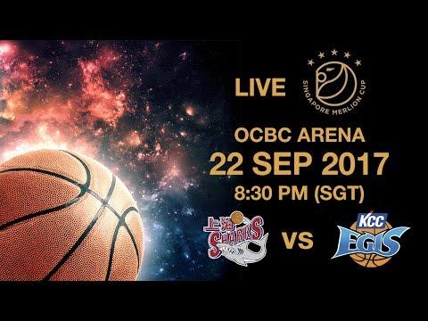 Basketball 🏀 Shanghai Sharks 🇨🇳 vs 🇰🇷 Jeonju KCC Egis | Singapore Merlion Cup 2017