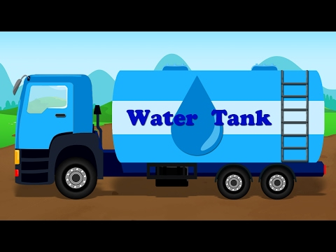 Water Tanker | Learn Street Vehicle | Cars Cartoon | Video for Kids & Toddlers