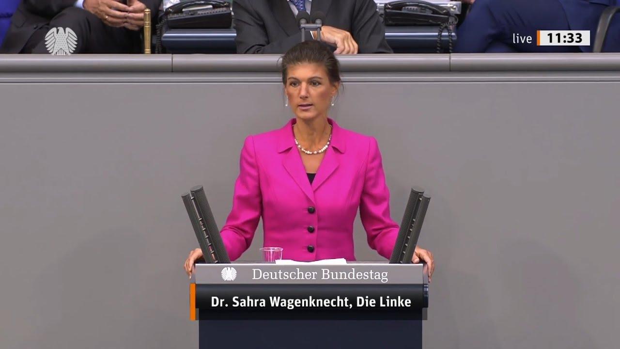 Сара Вагенкнехт: Партия Меркель по-христиански относится только к олигархам! [Голос Германии]