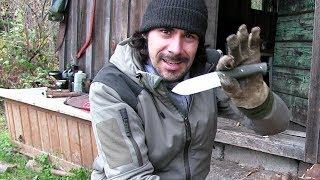 Das Bushcraft Messer - Schwarzwald Trapper Hütte (Teil 4)