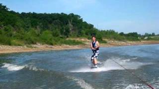 Collin's Wakeboard and wipeout