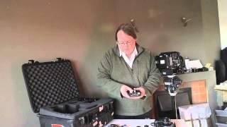 Loading B&W film into the Fuji GX680 medium format camera