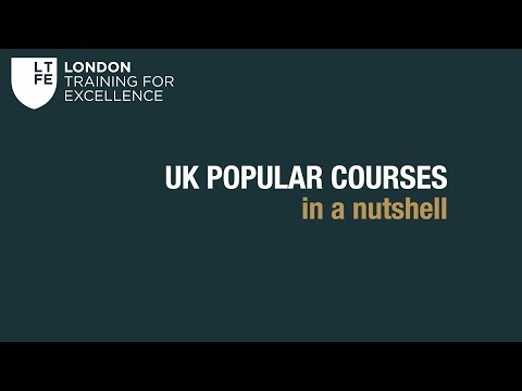 The most popular courses in the UK