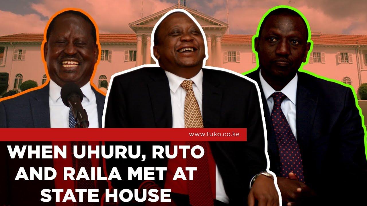 Kenya News: When Uhuru, Ruto and Raila Met at State House | Tuko TV