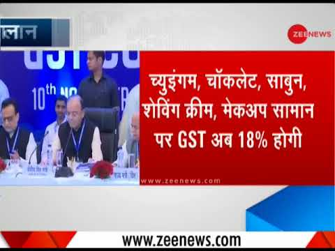 18% GST on chewing gum, chocolate, soap, makeup items | GST पर बड़ा ऐलान