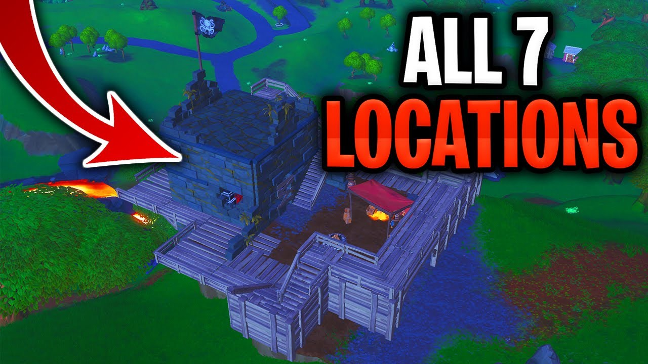 visit all pirate camps location visit 7 different pirate camps fortnite season 8 week 1 challenges - visit all 7 pirate camps fortnite