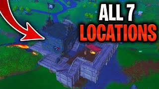 Visit All Pirate Camps Location - Visit 7 Different Pirate Camps Fortnite Season 8 Week 1 Challenges