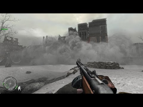 Soviet Soldiers in Heavy City Combat in Stalingrad ! Call of Duty 2 |