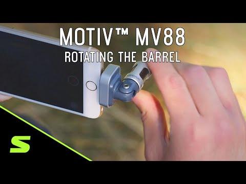 Shure MOTIV MV88 - Rotating the Barrel