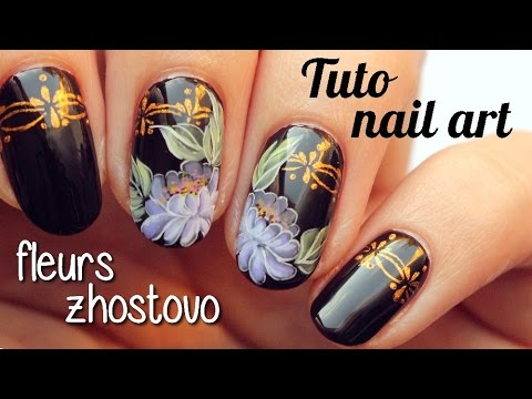 Zhostovo Nail Art Tutorial 16
